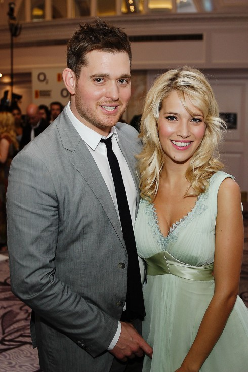 Michael Buble and wife Luisana Lopilato,  The Nordoff Robbins O2 Silver Clef Awards held at the Hilton Park Lane. London, England