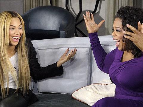 Beyonce appears on Oprah Winfrey's talk show