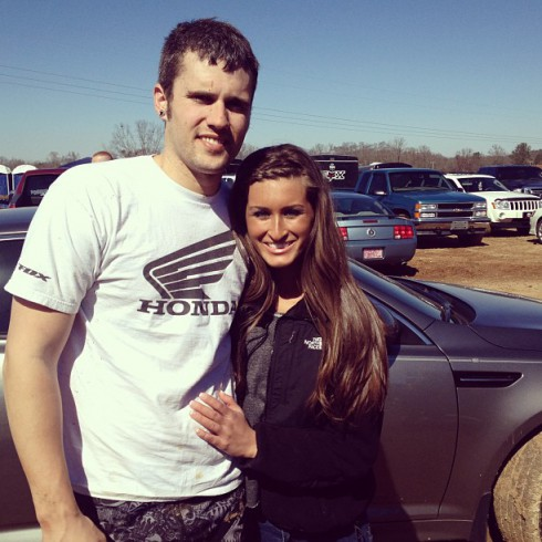 Ryan Edwards and Kirsten Cooper attend motocross race