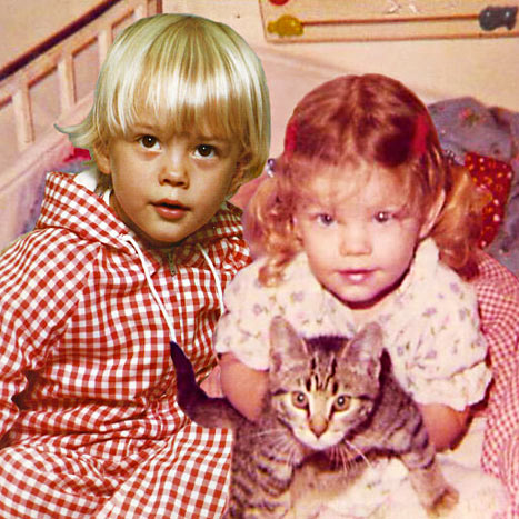 Childhood photo of Josh Duhamel and wife Fergie aka Stacy Ferguson