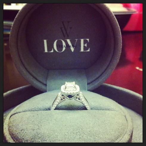 Izabella Tovar's engagement ring from Jairo Rodriguez