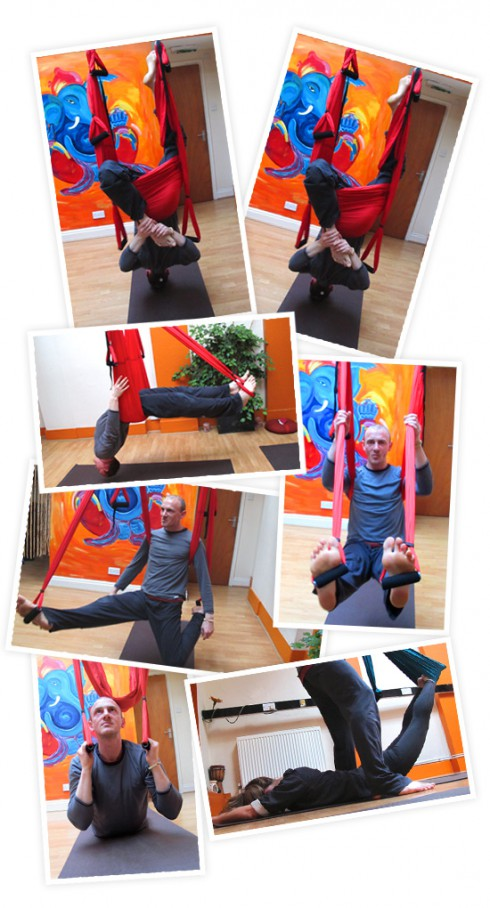 Aerial Yoga Collage
