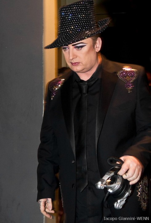 Boy George before weight loss