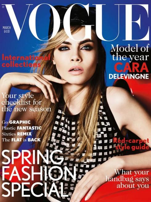 Cara Delevingne Vogue UK March Cover