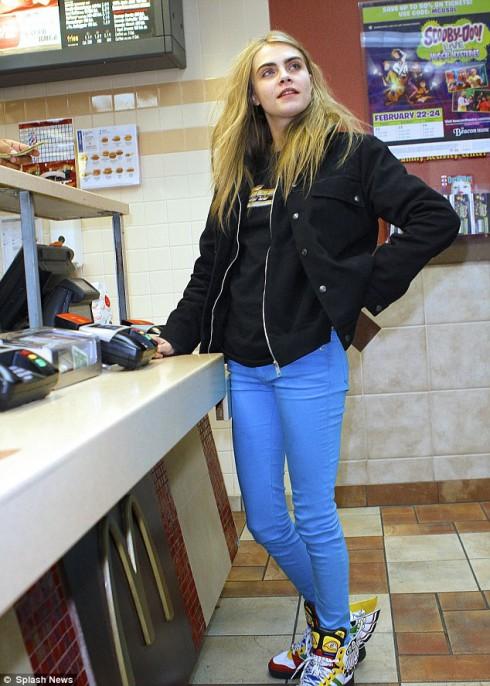 Delevingne at McDonald's