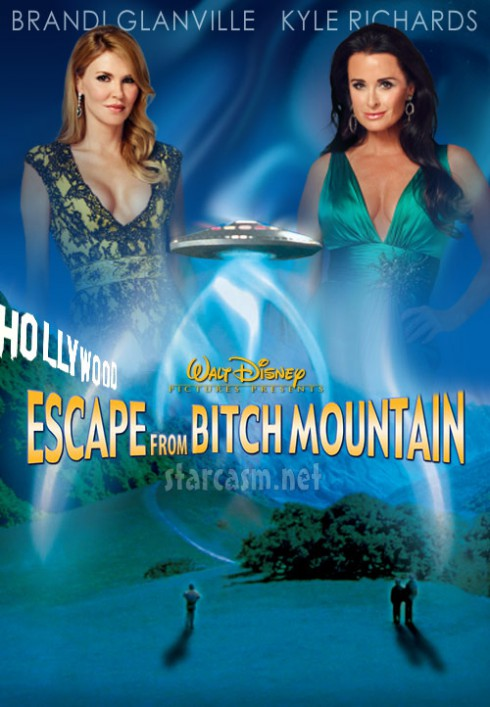 Brandi Glanville and Kyle Richards movie poster for Escape From Bitch Mountain