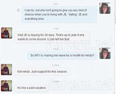 Alleged Gary Head Facebook conversation in which he says MTV is sending Jenelle Evans to a facility for 30 days