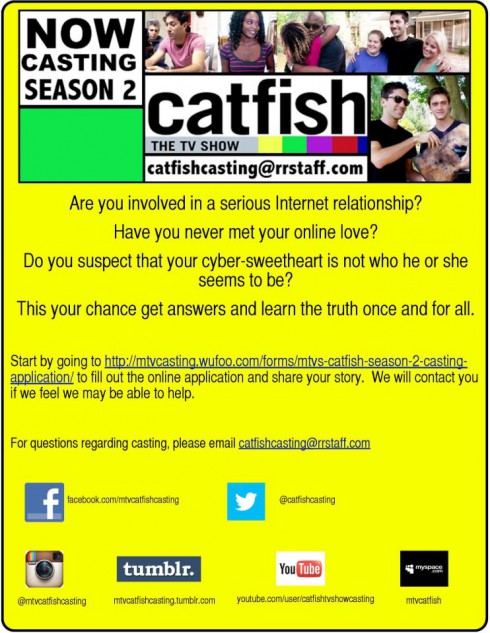 How to apply to be on Catfish The TV Show on MTV