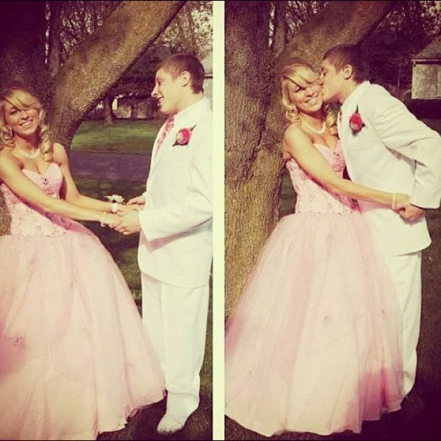 Mike Sindone and Nikkole Paulun at her prom