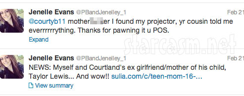 Jenelle Evans says Courtland Rogers pawned her video game projector for cash