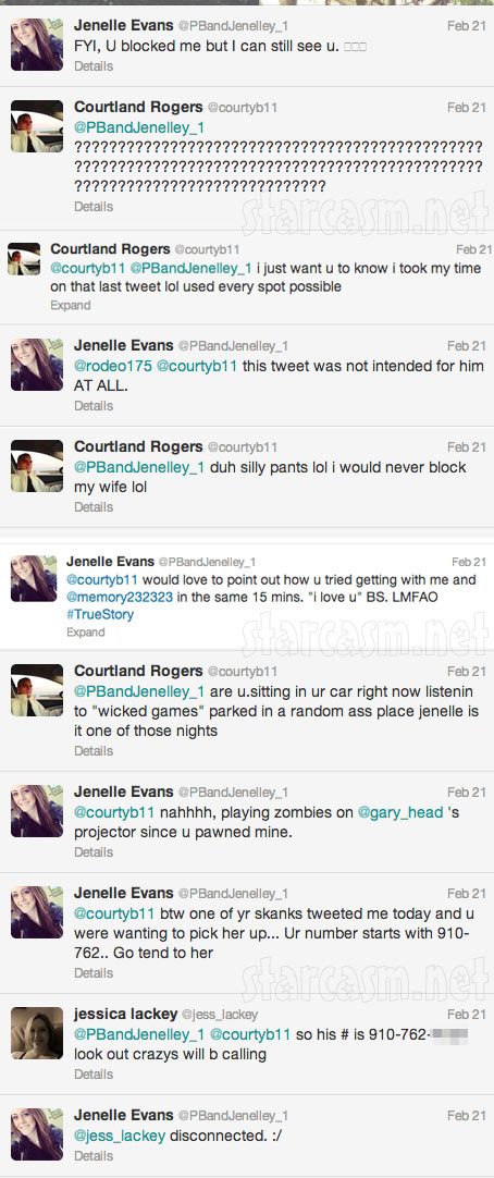 Jenelle Evans Twitter feud with husband Courtland Rogers