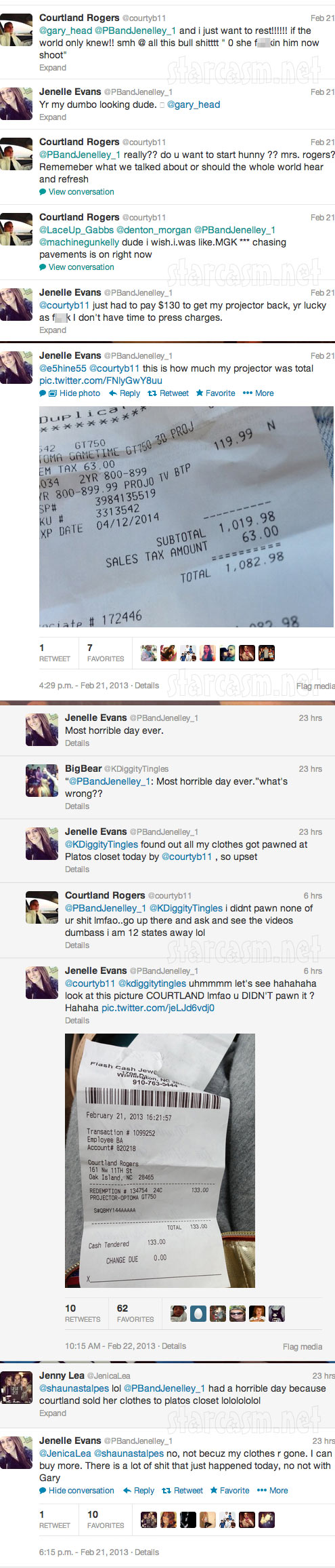 Jenelle Evans Twitter feud with Courtland Rogers 3