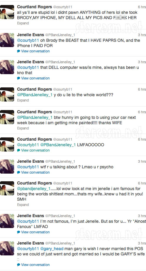 Jenelle Evans Twitter feud with Courtland Rogers 4