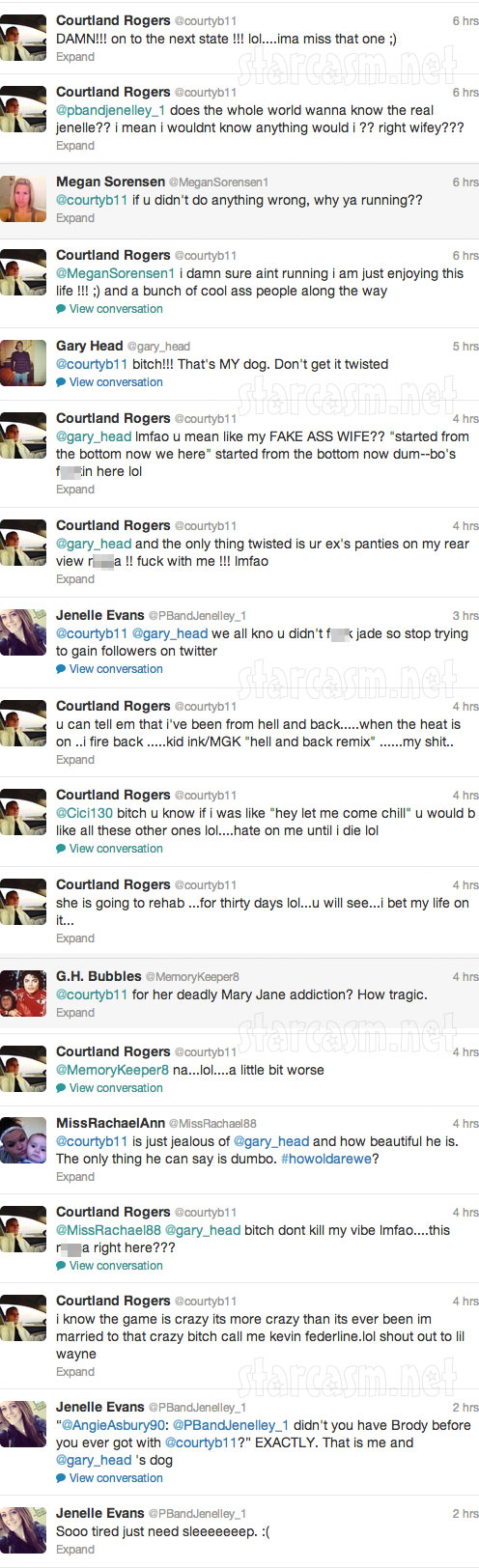 Jenelle Evans Twitter feud with Courtland Rogers 5