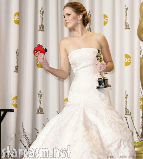 Jennifer Lawrence Gives the Finger