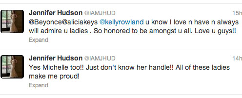 Jennifer Hudson  responds to Beyonce Super Bowl note on Twitter