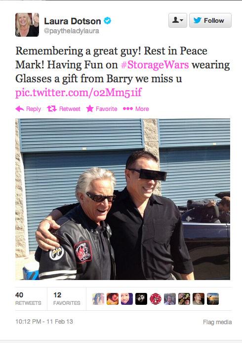 Laura Dotson Mark Balelo tweet