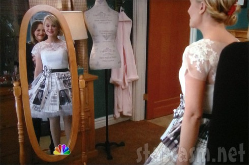 Leslie Knope's wedding dress from Parks and Recreation