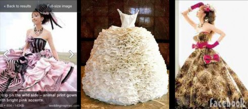 Mellie Stanley's wedding dress design ideas
