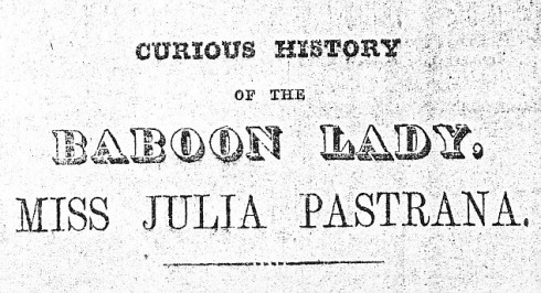 Pastrana Advertised as Baboon Lady