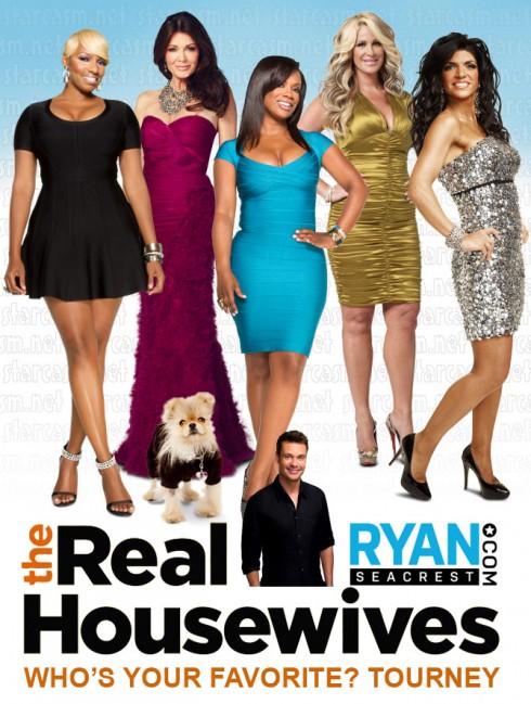 Ryan Seacrest Favorite Housewives tournament final five NeNe Leakes Lisa Vanderpump Kandi Burruss Kim Zolciak Teresa Giudice