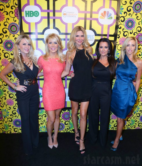 Real Housewives Tamra Barney, Gretchen Rossi, Brandi Glanville, Kyle Richards, and Camille Grammer Family Equality Council Awards event
