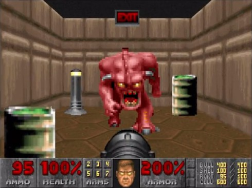 doom pinky demon blocks the exit before photo
