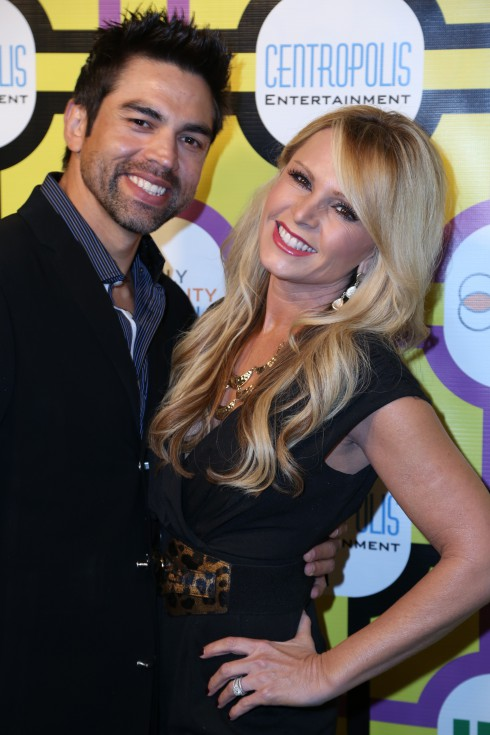 Tamra Barney and fiancé Eddie Judge attend the Family Equality Council's Awards Dinner at The Globe Theatre in Universal City.