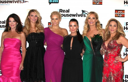 Lisa Vanderpump, Brandi Glanville, Yolanda H. Foster, Kyle Richards, Taylor Armstrong, Adrienne Maloof 'The Real Housewives of Beverly Hills Season 3' premiere at The Roosevelt Hotel.