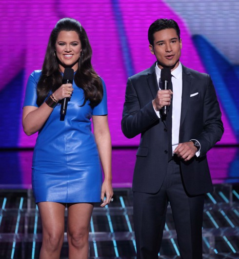 "Khloe Kardashian Odom and Mario Lopez host FOX'S ""The X Factor"" Season 2 Top 16 Live Elimination Show in Hollywood, California."