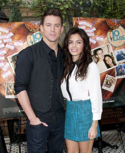 Channing Tatum, Jenna Dewan attend the '10 Years' brunch reunion event, held at Hotel Chantelle in New York City, USA.