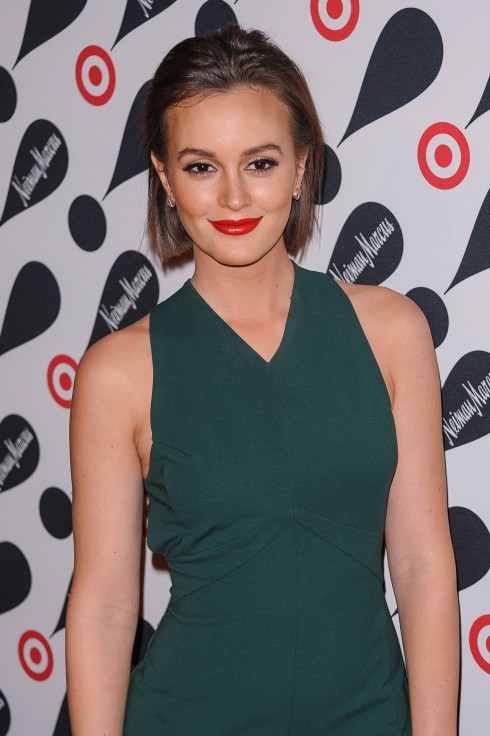 Leighton Meester attends the Target + Neiman Marcus Holiday Collection launch party in New York City, USA