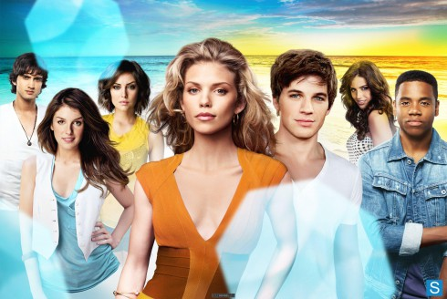 90210 cast photo with Tristan Wilds, Matt Lanter, Jessica Lowndes, AnnaLynne McCord, Shenae Grimes