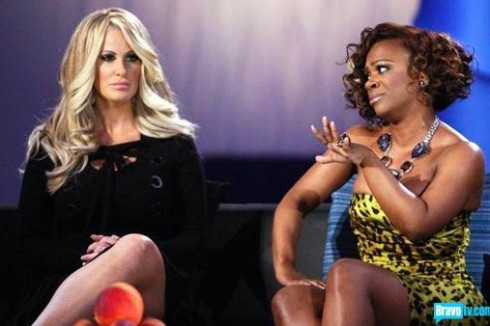 Kim Zolciak and Kandi Burruss at 'Real Housewives of Atlanta' reunion