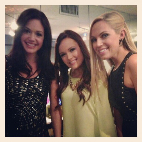 Desiree Hartsock poses with Jackie and Sarah at the After The Final Rose special were she was announced as 'Bachelorette'