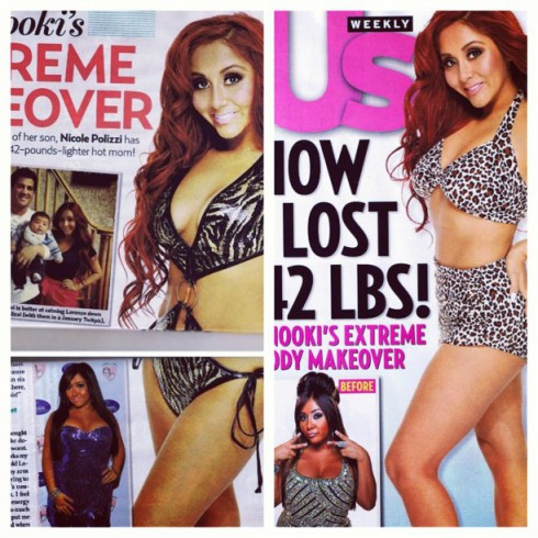 Snooki in a bikini after weight loss post-baby