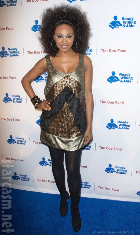 Cynthia Bailey attends The Doe Fund's Night Supporting the 'Men In Blue' Sweet: New York held at The Classic Car Club of Manhattan in New York City, New York , United States.