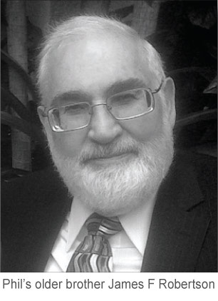 Phil Robertson's older brother James F. Robertson