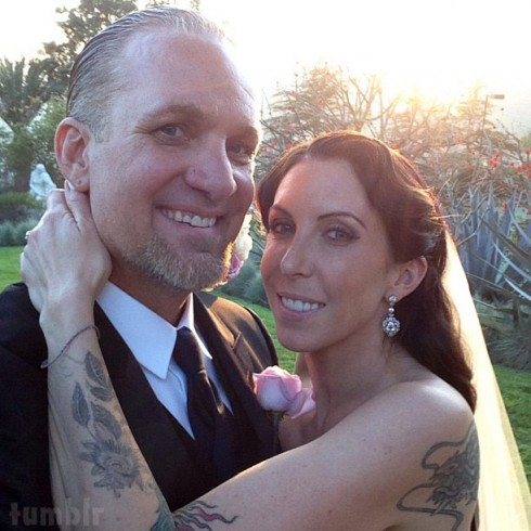 Alexis DeJoria and Jesse James wedding photo
