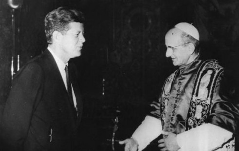 John Kennedy meets the Pope