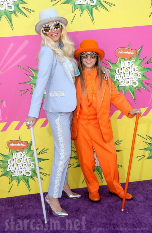 Ke$ha and little brother Louie Sebert Kids Choice Awards Dumb and Dumber