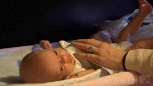 Leah Calvert's new daughter Adalynn Faith photo