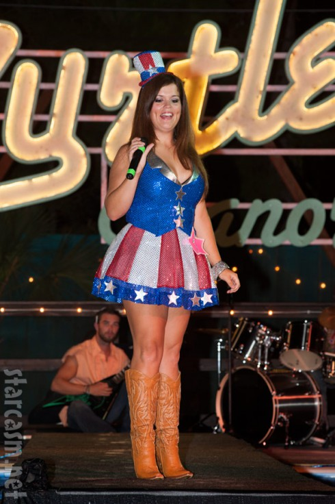 Welcome to Myrtle Manor Amanda Adams pageant American flag outfit