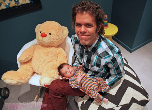 Perez Hilton Jr photo with dad