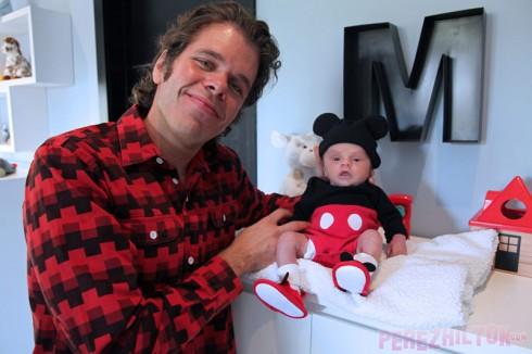Perez hilton and son Mario Armando Lavandeira III