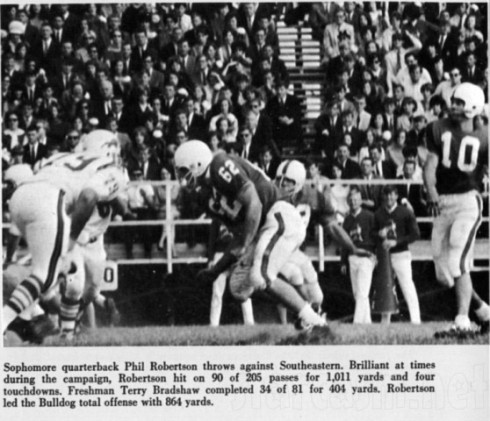 Phil Robertson playing football for Louisiana Tech 1967