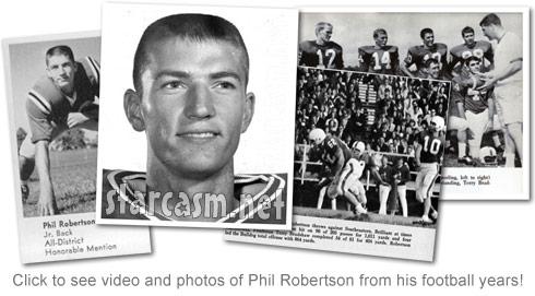 Duck Dynasty's Phil Robertson playing football at Louisiana Tech