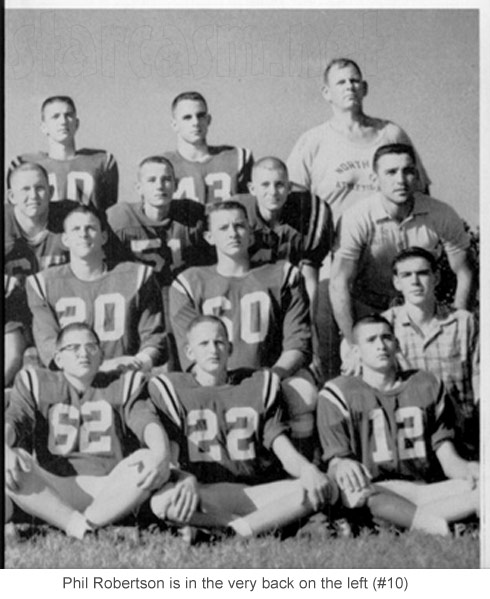 Phil Robertson high school football photo North Caddo