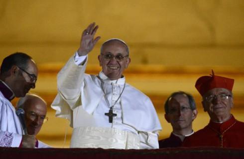 Pope Francis Waving