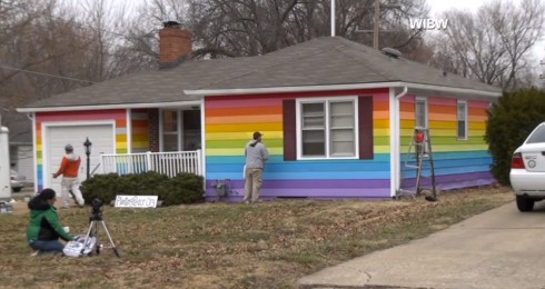 Rainbow Equality House across from Westboro Baptist Church